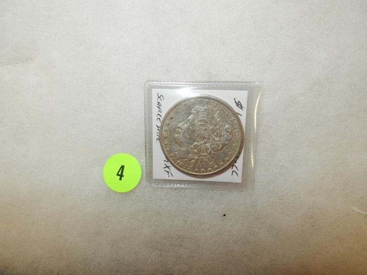 Nice U.S. Morgan silver dollar 1892-CC (Scarce date)