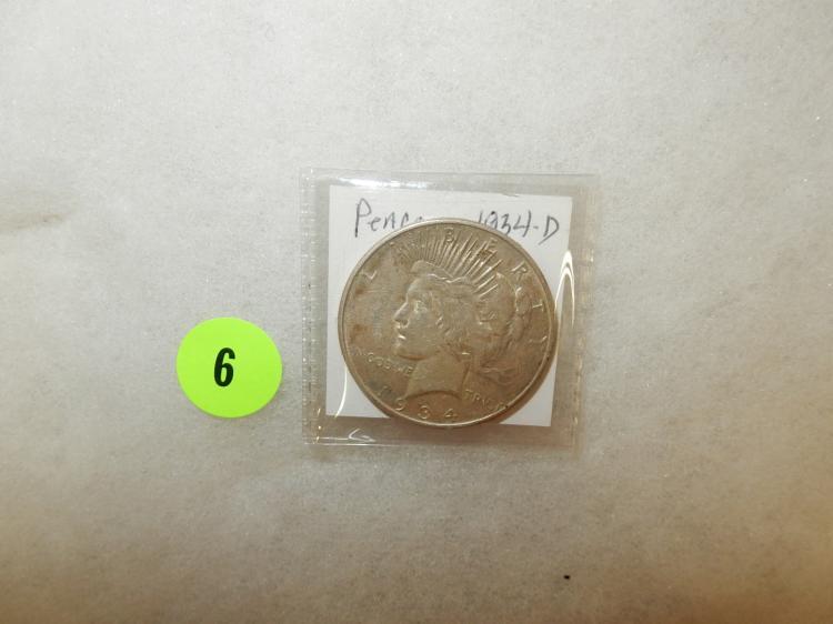 Nice U.S. Peace silver dollar 1934-D