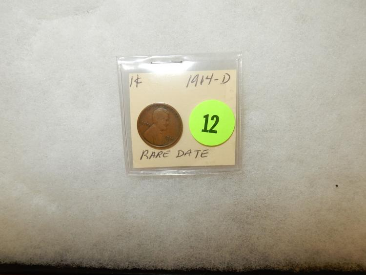 Nice U.S. Lincoln cent 1914-D (rare date)
