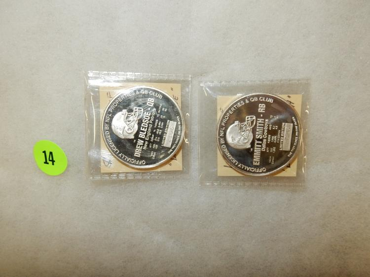Set of 2 limited edition sports .999 silver 1 oz. rounds