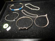 Selection of 6 nice vintage sterling silver bracelets