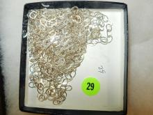 Unusual pair of very long sterling silver necklaces (each 8' ft long)
