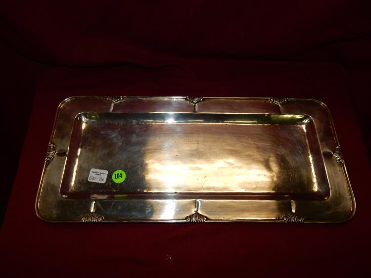 sterling silver platter / tray, stamped Sterling Mexico, total gram weight 754 (approx)