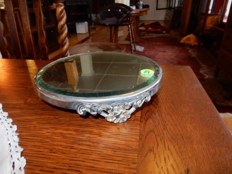 Vintage vanity mirrored plateau