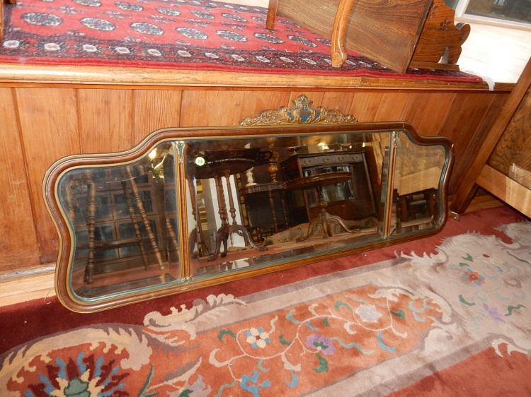 Antique piano mirror, cond G-VG minor piece missing on corner, special shipping req