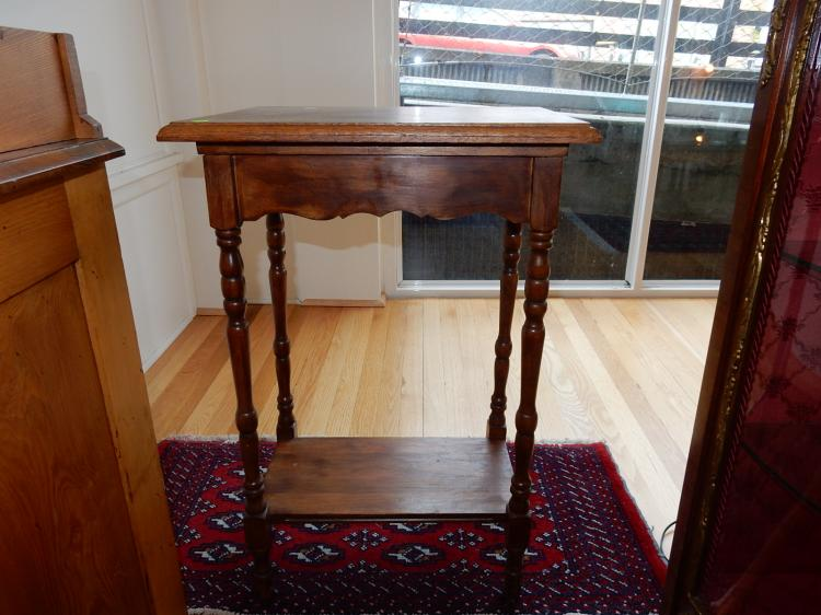 Vintage walnut lamp table, special shipping req