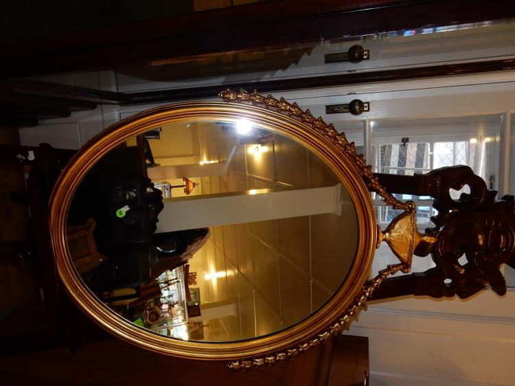 Vintage gold painted fancy wall mirror, special shipping req