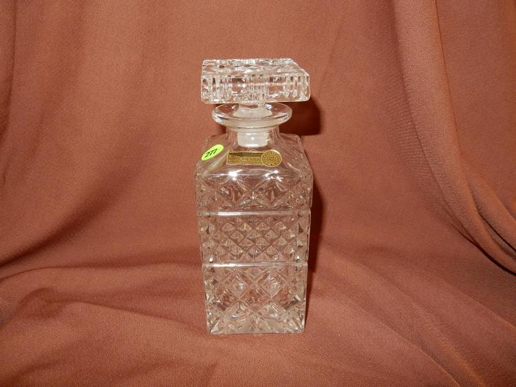 Nice crystal decanter with stopper, COND VG