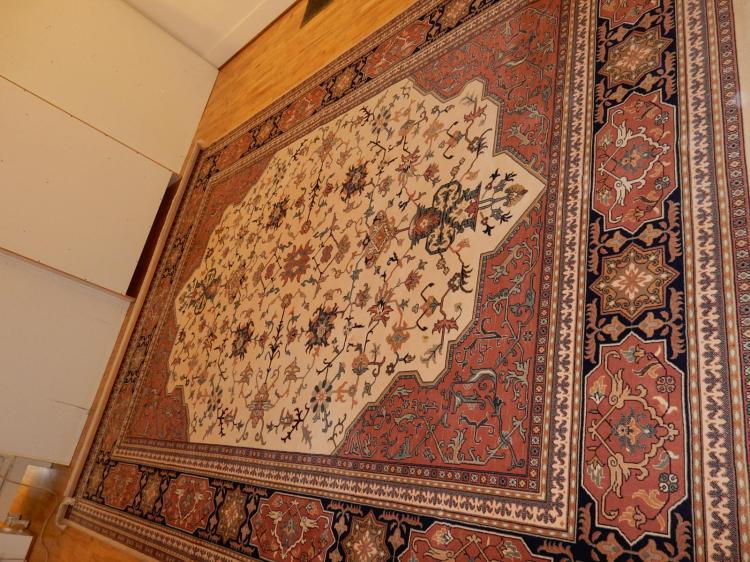 beautiful karastan kara shah room size rug pattern ivory. Black Bedroom Furniture Sets. Home Design Ideas