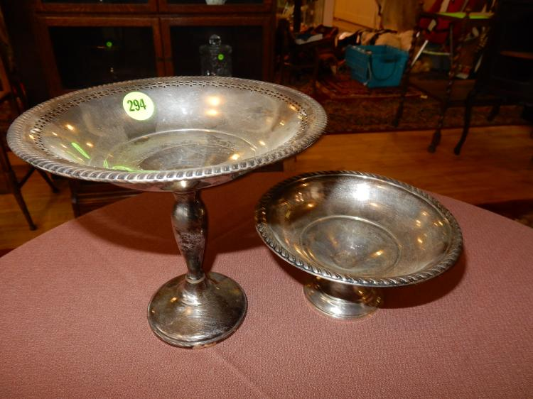 2 piece sterling silver, weighted base dish