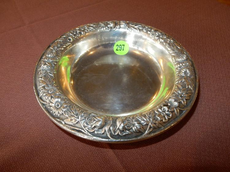 Nice floral edge, S.Kirk & Son, sterling bowl