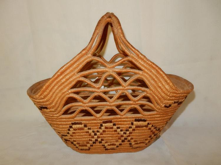 Woven Shopping Basket Uk : Nice hand woven native american fraser river ping basket