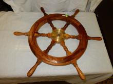 Small nautical boat / ship wheel