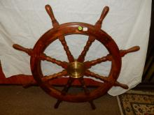 Large nautical boat / ships wheel. Special shipping required
