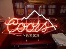 Advertising neon Coors lighted bar sign, works great. Cannot ship