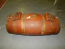 Nice antique nautical / ship (Navy?) water cask (barrel) with dual handles, plug & spout