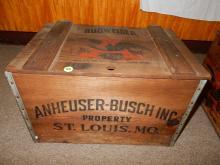 Anheuser-Busch Inc. Budweiser wooden beer crate