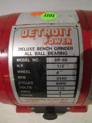 Awe Inspiring Detroit Power Deluxe Bench Grinder As Seen Runs Pdpeps Interior Chair Design Pdpepsorg