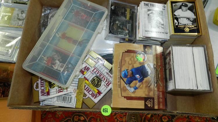Group Of Baseball Cards In Holders