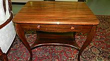 nice antique walnut single drawer, library desk, SSR