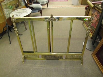 Brass Fireplace Screen With Sliding Glass Doors Approx 38 12 Wide