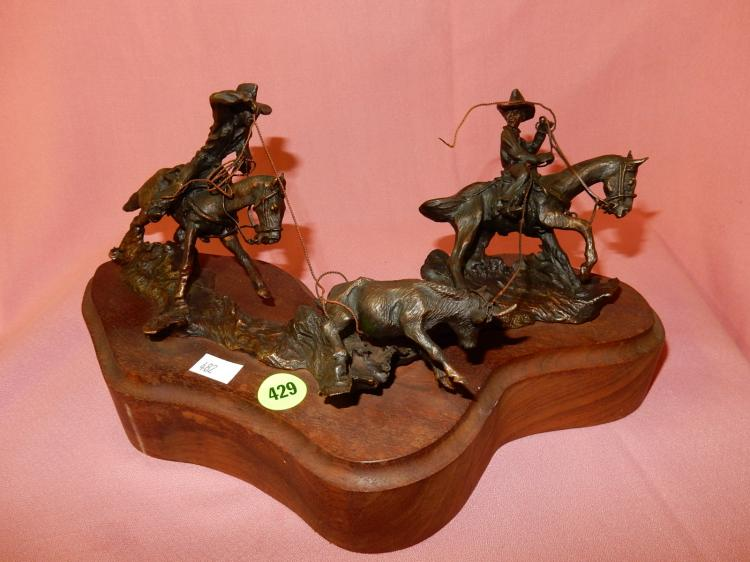 Nice bronze sculpture by master artist Harvey Rattey
