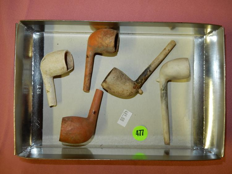 88) collection of antique clay pipes