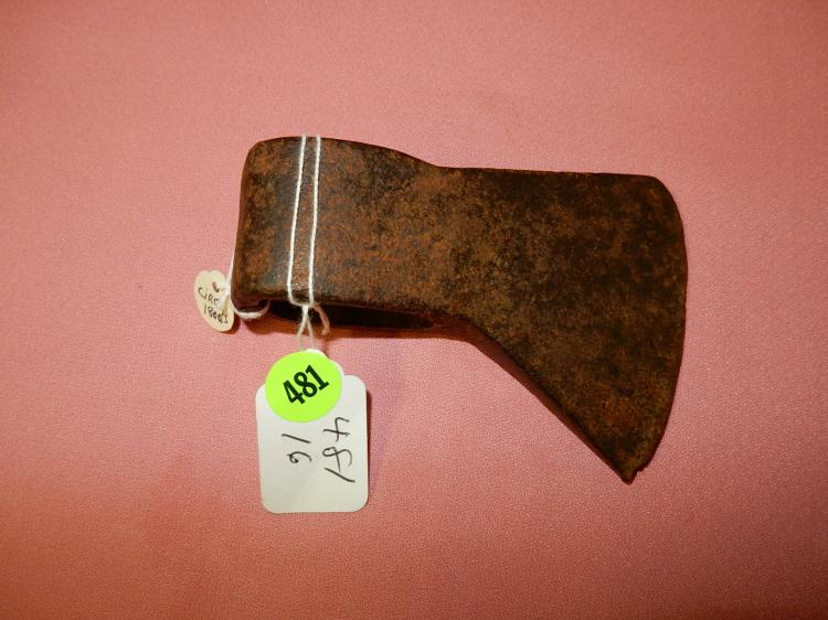16) Antique Native American trade axe head