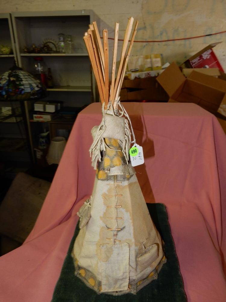 2) Unique handmade teepee