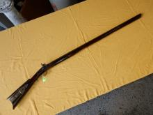 Antique long percussion rifle, Josh Golgher stamped on lock, No FFL required