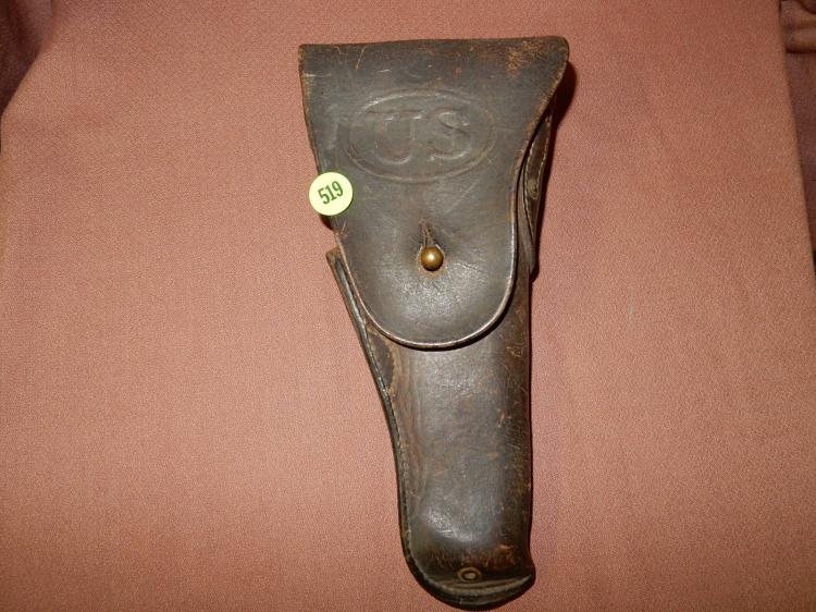 Vintage US leather pistol holster (Civil War era)?