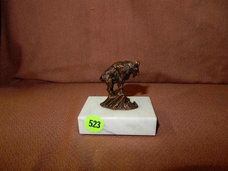 Original small bronze sculpture on marble base