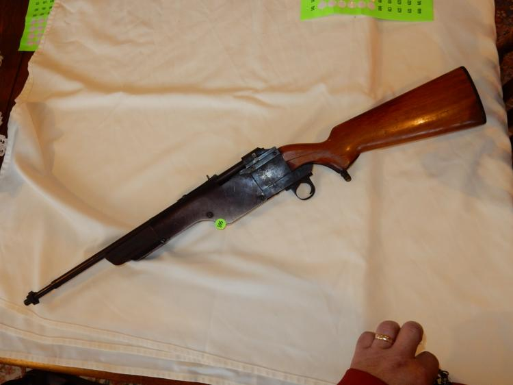 2) Rare Find! antique Carnival / Acrade Marbles air rifle, used at a local shooting gallery in Tacoma WA, tube feed gas / air from melting of dry ice, sight stamped Marbles Gladstone Mich, USA, one of 4 found from this estate, all four were wrapped up in Dec 1951 newspaper, from when the gallery closed, was used to shoot metal ducks etc. no other maker's mark found, untested