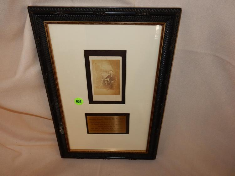 Antique framed photo Abe Lincoln, with information plaque , professionaly framed & matted, original?