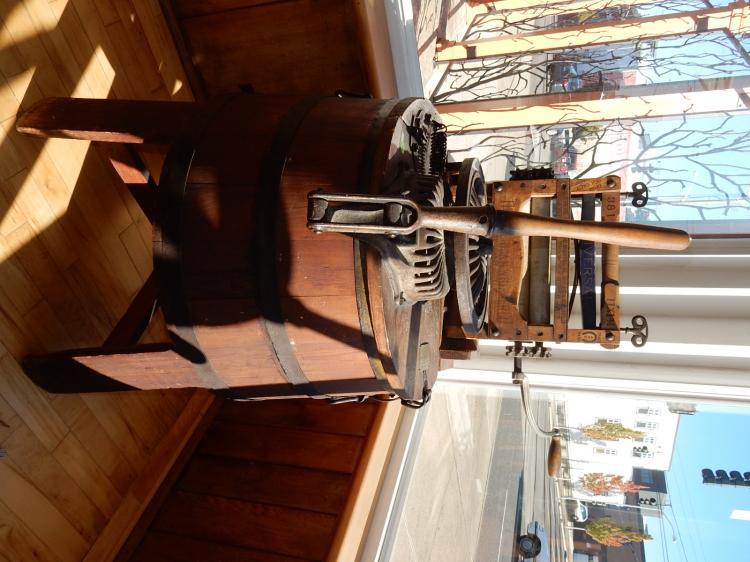 Wonderful antique hand crank washing machine