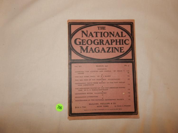 Antique 1901 National Geographic Magazine