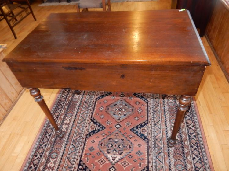 Lovely Antique Spinet Lift Top Ladies Writing Desk With Swi