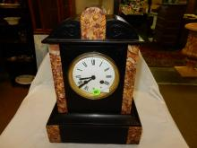 Nice antique marble mantle clock, Japy Freres