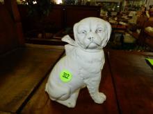Antique bisque pug dog figurine