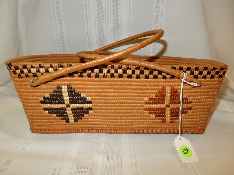 Woven Shopping Basket Uk : Nice hand woven native american ping basket lillooet in