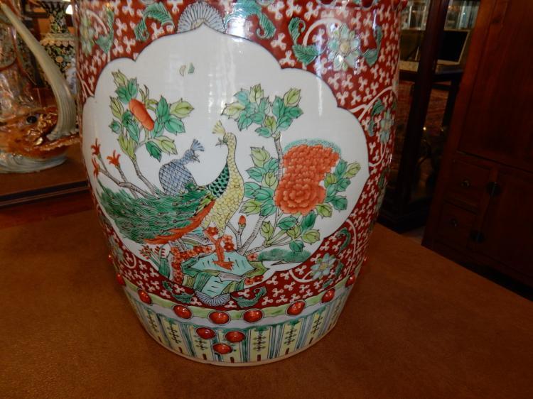 Strange Lovely Asian Porcelain Chinese Multi Color Porcelain Bird Mo Ncnpc Chair Design For Home Ncnpcorg