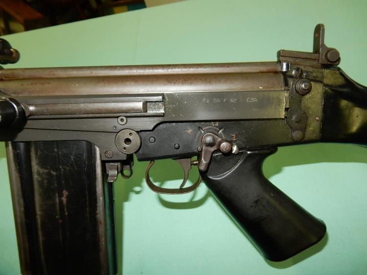Vintage IMBEL from Brazil FZ SA 7 62 rifle with folding bi-p
