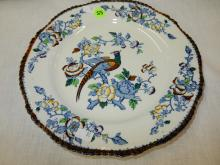 Asian bird of paradise plate by Woods Ware, COND VG
