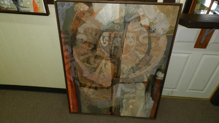 11) Original framed oil painting on canvas, by local listed famous artist Kathleen Gemberling Adkison, titled