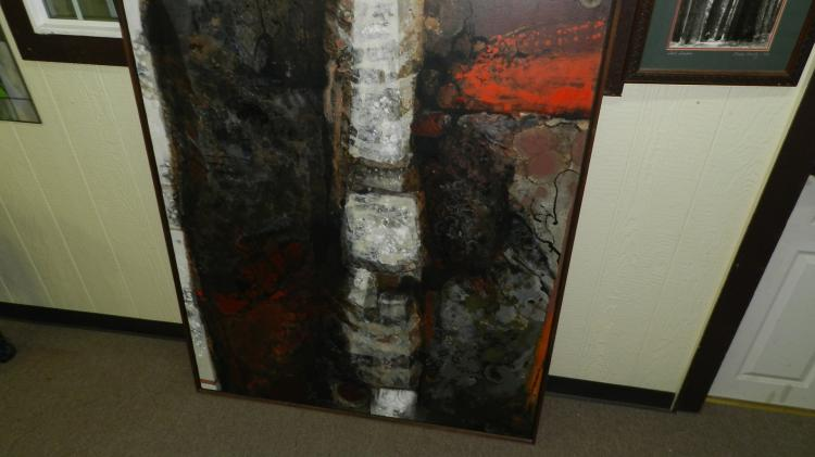 13) Massive, original framed oil painting on canvas by local listed famous artist, Kathleen Gemberling Adkison, titled