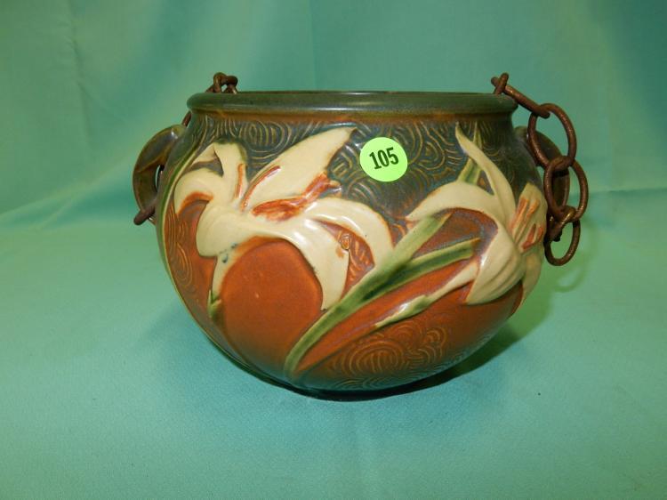 Nice Vintage Roseville Pottery Planter Zephyr Lily 671 6 Added