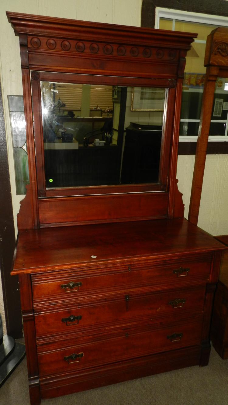 11 antique american eastlake dresser with mirror original. Black Bedroom Furniture Sets. Home Design Ideas