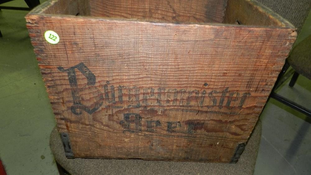 Sold Price Vintage Wooden Advertising Milwaukee Brewery Crate San Francisco Burgermeister Beer February 2 0113 6 00 Pm Pst