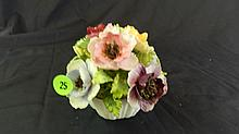 Bisque Coalport flower display, COND VG, minor flaking, 4