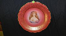 Lovely rose pictorial plate, made in Germany, COND VG, 11 3/4